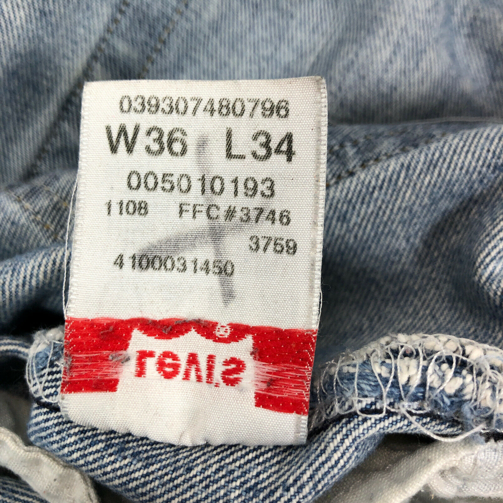 vtg 90s LEVI'S 501 Faded Work Worn Button Fly Jea… - image 7