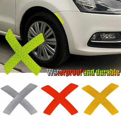 2x White Reflective Warning Strip Tape Car Bumper Strips Stickers Safety Decals