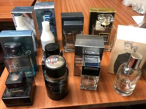 Perfume-Bottles-Job-Lot-Chanel-Coco-Calvin-Klein-Armani-Dolce-Gabbana-A-amp-F-Zara