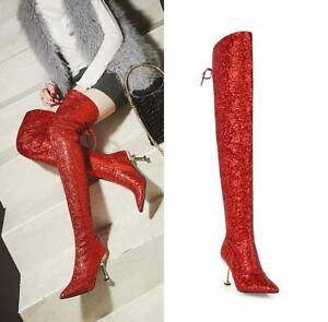 Sequin Glitter Women Over Knee High