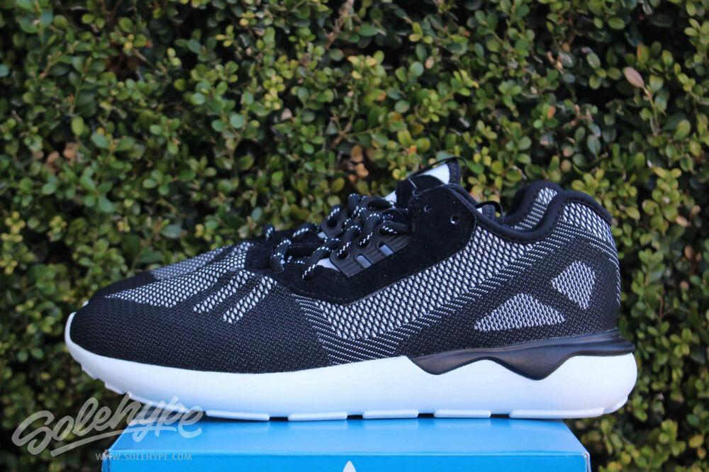 Adidas Corredor de Tubular Weave Sz 11 Core Negro Atletismo Blanco S74813