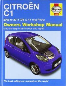 Haynes 4922 Manual for Citroen C1 Petrol 2005-2011