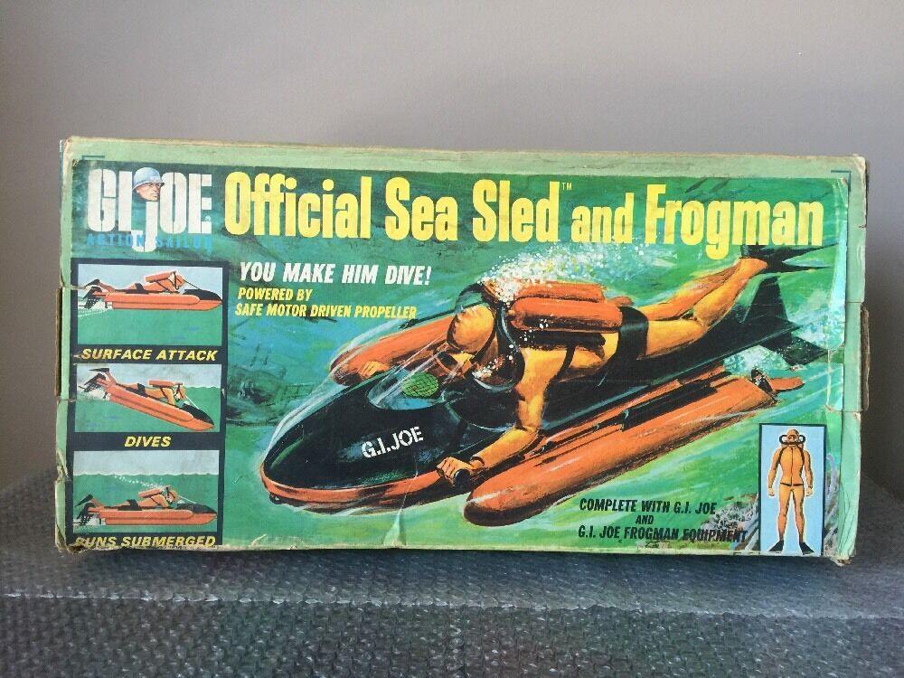 Hasbro 1966 VINTAGE GI JOE Official Sea Sled-READ-