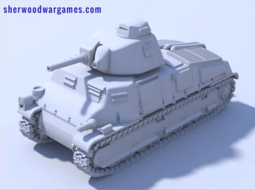 28mm French Somua S35 Tank, In Resin By Blitzkrieg WWII Bolt Action