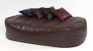 XXX-L-Beanbags-16cuf-Lleather-bean-bag-sofa-bed-beanbag-lounger-Brown