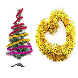 Details About Xmas Tree Hanging Ornament Decoration Garland Ribbon String For Christmas Party