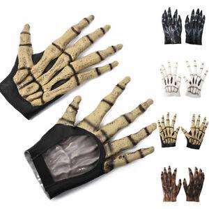 Deluxe-Gray-WereWolf-Gloves-Hands-Claws-Halloween-Costume-Paws-Werewolf-Gloves