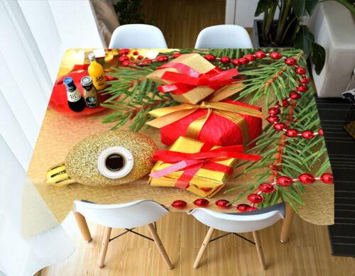 3D Geschenkperlen C29 Christmas Tischdecke Tischdecke Tuch Geburtstagsfeier Zoe