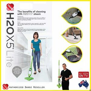 GENUINE-H2O-X5-LITE-Steam-Mop-Multi-Function-Steam-Cleaner-GREEN-H20-X5