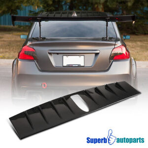 For 2015 2018 Subaru Wrx Sti Vortex Generator Shark Black Fin Roof Spoiler Wing Ebay
