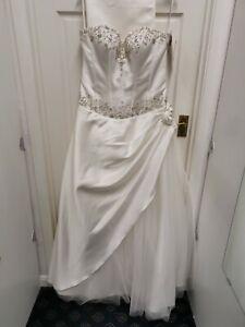 Grace Mae Boda Baile Vestido Tiffanys Marfil Vestido Talla 14 BNWT
