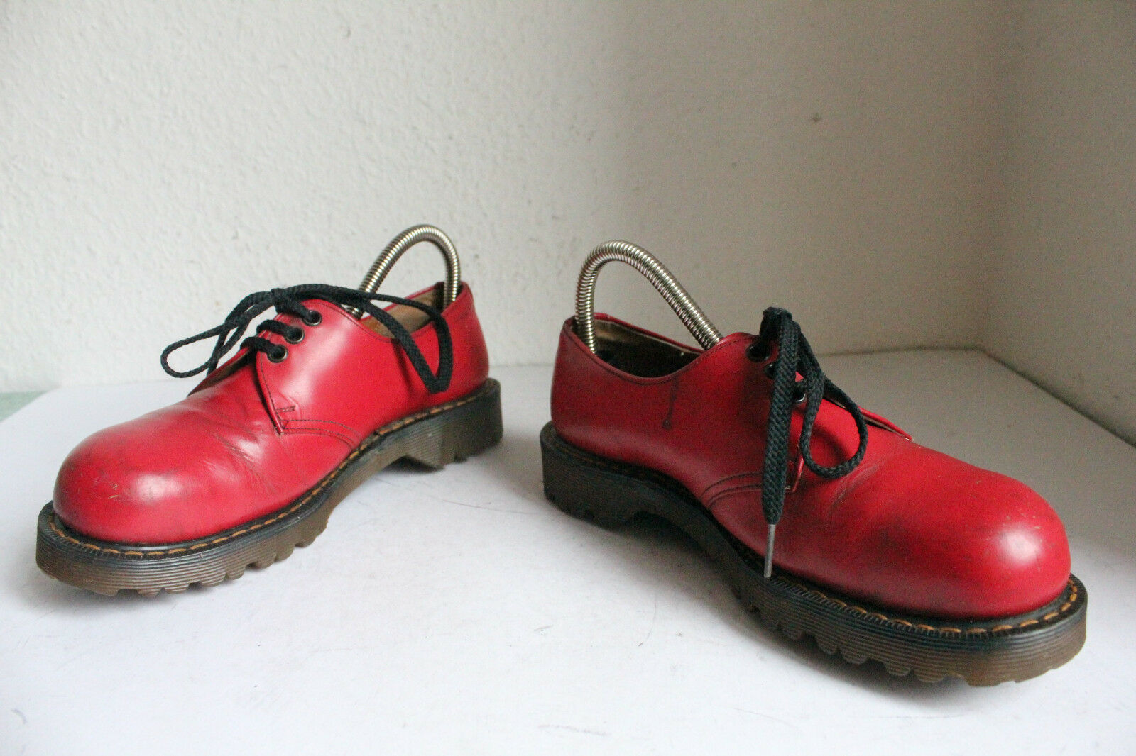 Vintage Dr. Martens Safety Echtleder Used Schuhe Echtleder Safety Rot Eu:38-Uk:5 made in England 09af23