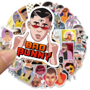 50PCS Hot Puerto Rican Bad Bunny Stickers PVC Decal Waterproof Free Shipping