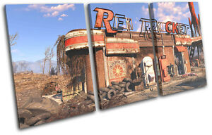 Details about Fallout 4 Red Rocket Gaming TREBLE CANVAS WALL ART Picture  Print