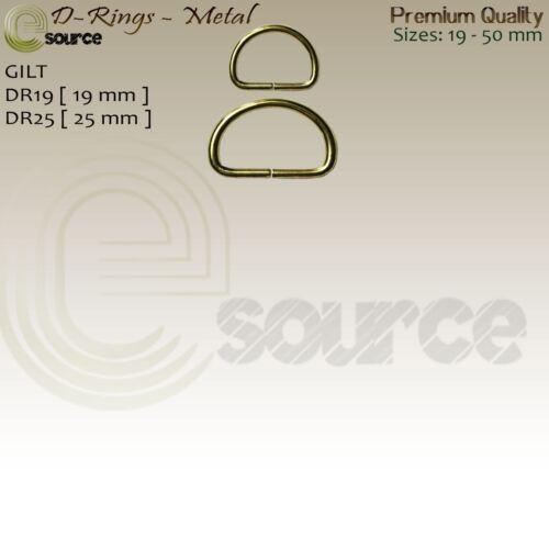 Qualité Premium désoudé D Anneaux Boucles pour sangle nickel bronze dorée D Anneaux