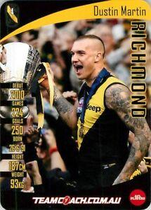 New-2019-RICHMOND-TIGERS-AFL-Premiers-Card-DUSTIN-MARTIN-Teamcoach