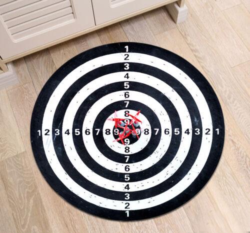 Dart Board Sports Round Carpet Bathroom Area Rug Floor Fitness Yoga Mat Non Slip