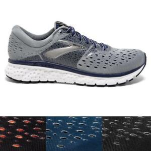 Men's Brooks Glycerin 16 Running Athletic Shoes Grey Black Blue