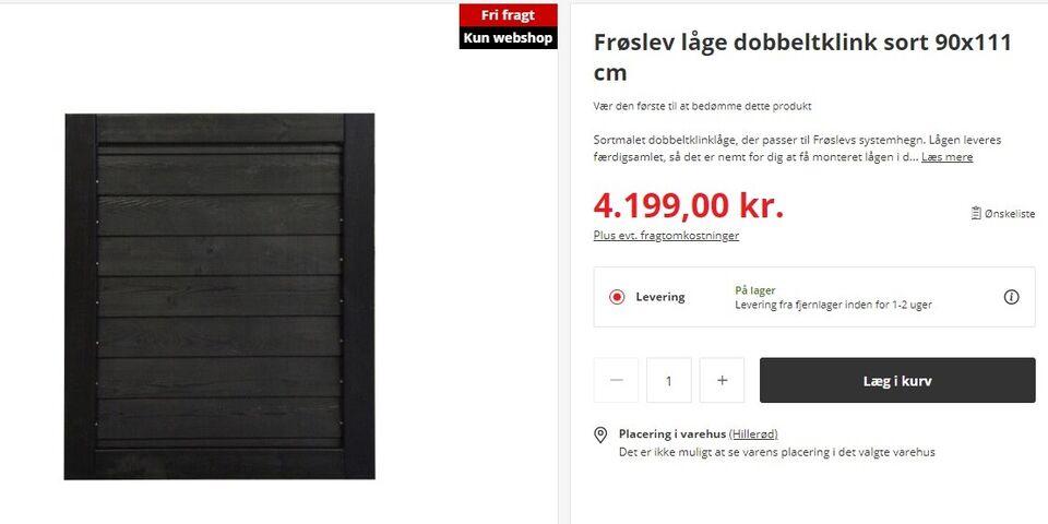 Havelåge, Frøslev Træ, b: 90 h: 111
