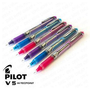 Pilot-V5-GRIP-Hi-Tecpoint-Needle-Point-Liquid-Ink-Rollerball-BXGPN-V5