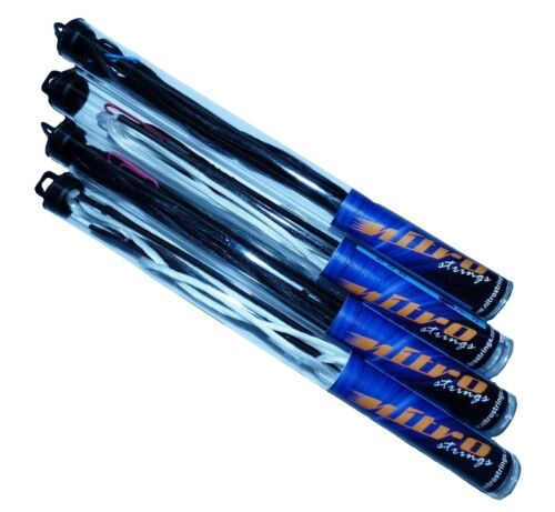 New Nitro Archery Dacron 12 Strand Recurve Bow String Pre Stretched Black White