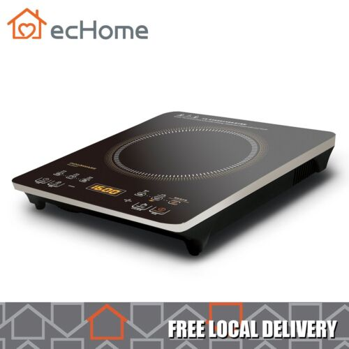 ecHome Electric Infrared Ceramic Cooker Hob Digital Touch Single 2000W