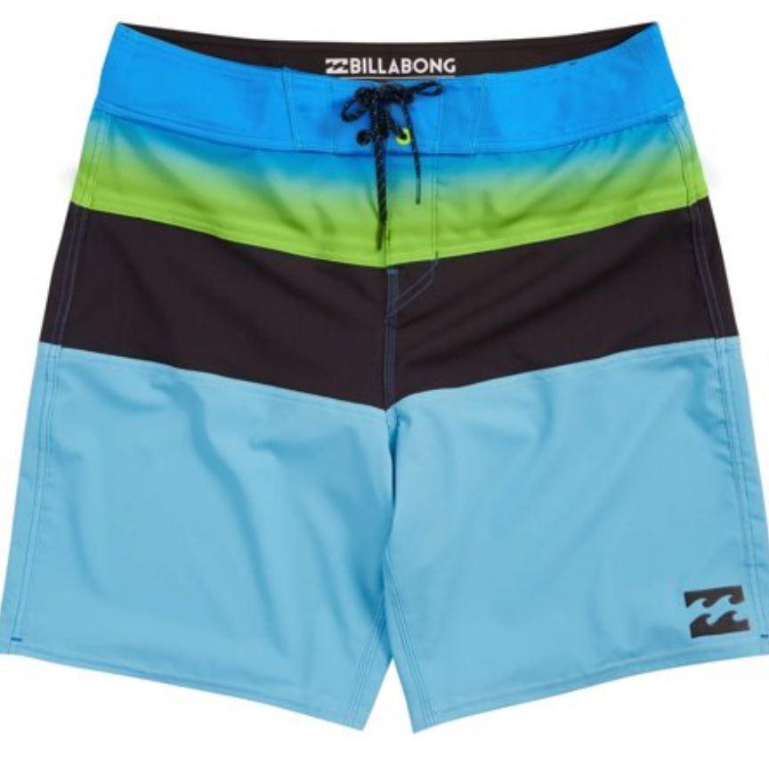 Billabong TRIBONG X Mens Polyester Stretch Boardshorts 32 bluee NEW