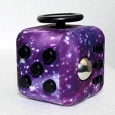 Starry Sky Fidget Cube Anxiety Stress Relief Focus Gift Adults Attention Therapy