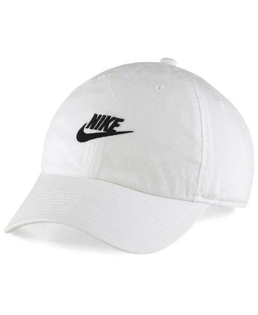 e4d748e1bf6 Nike SportsWear Heritage 86 Adjust Hat Style  913011-100 in White White  Black