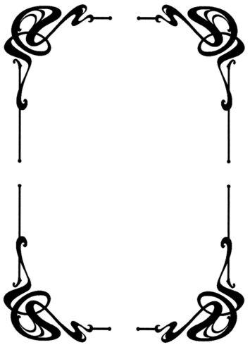 """7/"""" X 5/"""" DOORS ETC 4 X CUT VINYL CORNER STICKERS FOR MIRROR WINDOW FRAME"""