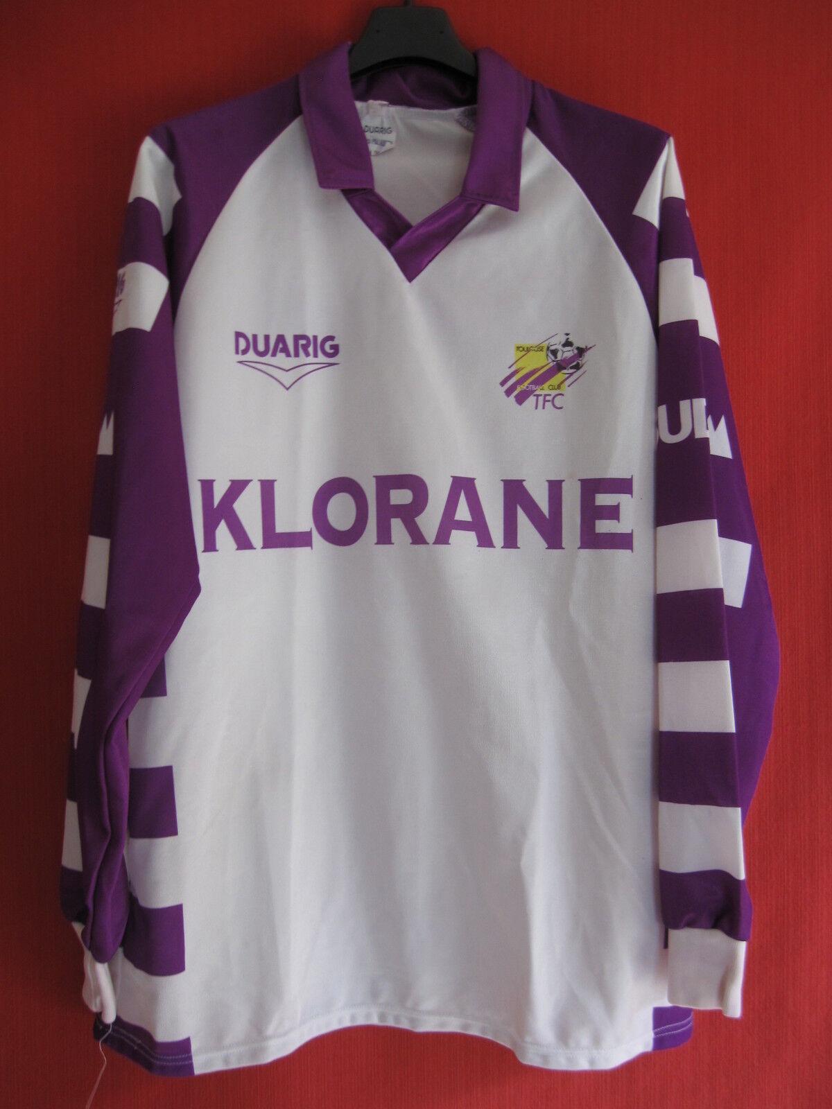 Maillot TFC Toulouse année 1991 Duarig Manche Longue Klorane TBE Vintage - L