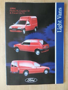 FORD-LIGHT-VANS-orig-1994-UK-Mkt-Brochure-Fiesta-35-Courier-50-Escort-55-75