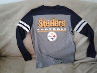 size 40 8eac8 7009f NFL PITTSBURGH STEELERS LONGSLEEVE JERSEY SHIRT SZ.MEDIUM PIT.STEELERS SZ.M  | eBay