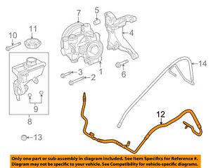 ford oem 09 10 focus power steering pressure hose 9s4z3a719a ebay F-350 Steering Box Breakdown image is loading ford oem 09 10 focus power steering pressure