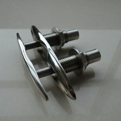 """1 Pair 6/"""" Flush Mount Marine 316 Stainless Steel Pull Up Cleat Boat Supplies"""
