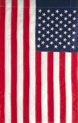 "USA American Flag 12/"" x 18/"" 12x18 Embroidered Garden Sleeve Hem Pole USA SHIPPER"