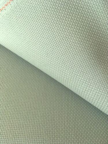 Celadon Green 14 Count Zweigart Aida cross stitch fabric various size options