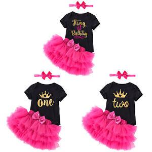 3PCS-Newborn-Baby-Girl-Birthday-Dress-Set-Short-Sleeve-Romper-Tutu-Skirt-Outfits