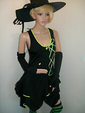 COMPLETE HALLOWEEN WITCH  FANCY DRESS OUTFIT SIZE 14/16