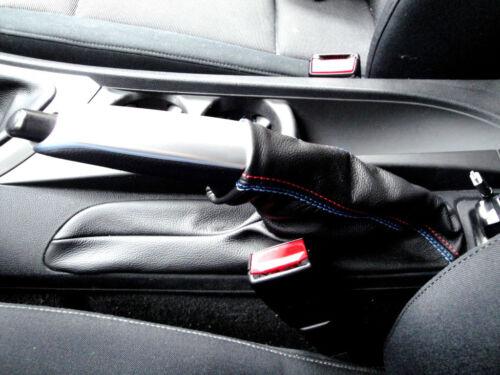 Bolsa Palanca Del Freno BMW Serie 1 E87 Cuero Negro Puntadas Msport
