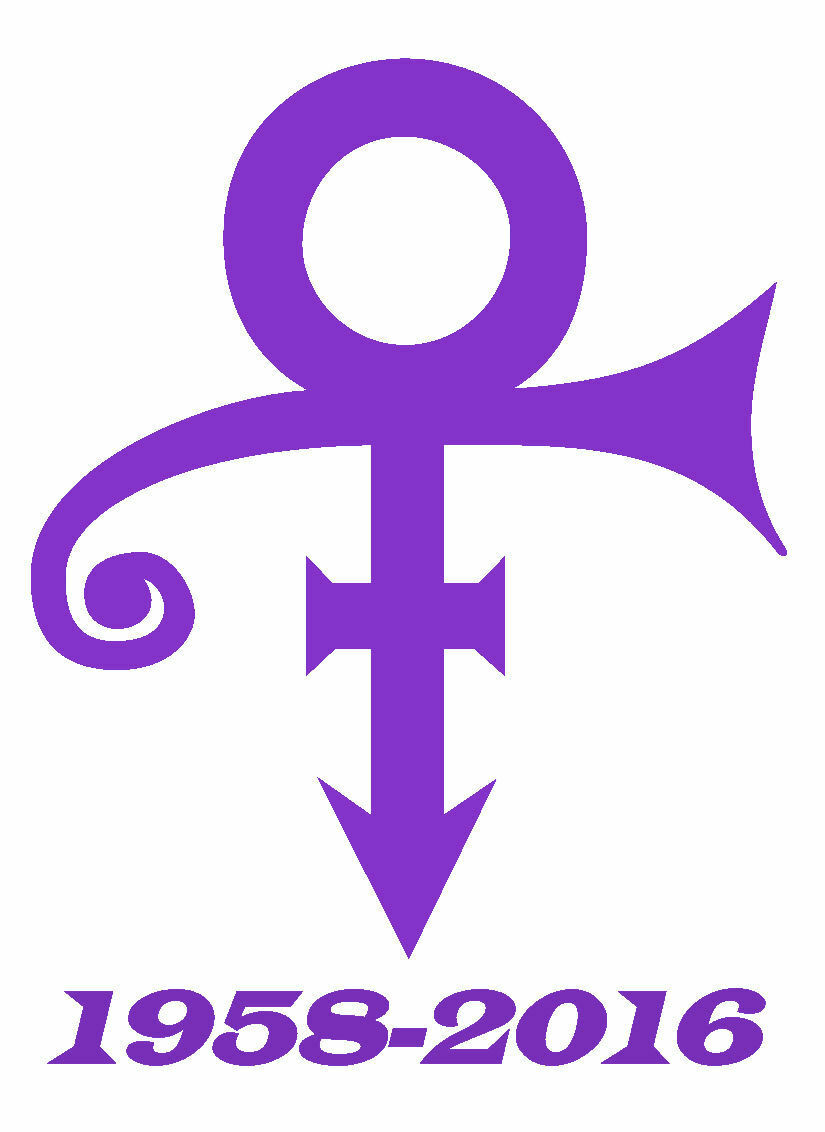 Prince Symbol Memorial 1958 2016 Vinyl Car Laptop