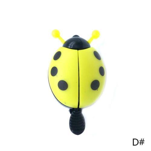 Bicycle Ladybug Kids Bell Ladybird Alarm Bike Metal ho Red Yellow Horn L0Z1