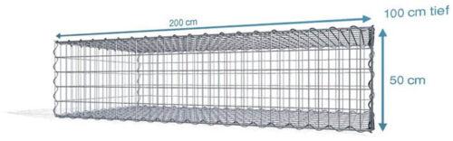 Maschenweite 5x10 cm Spiral Gabionen 4,5 mm Drahtstärke ➤ Gabionen Markenware