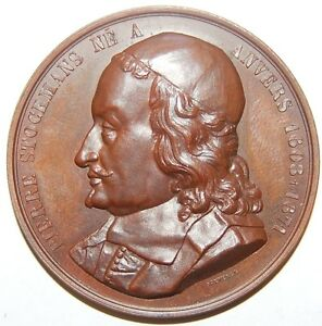 Belgique-pierre Stockmans-médaille Bronze-cca.1840-ze Medal-cca.1840 Fr-fr Afficher Le Titre D'origine