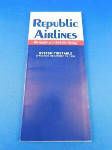 REPUBLIC-AIRLINES-SYSTEM-TIMETABLE-DECEMBER-1984-WE-MAKE-YOU-FEEL-LIKE-FLYING