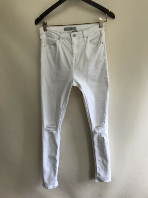 d3fc967a562 Topshop Moto Jamie Ripped SKINNY Jeans White Size W30x32l #p for ...