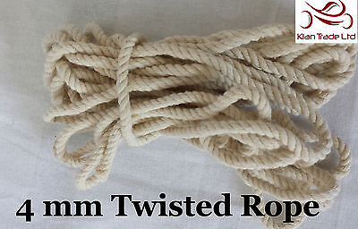 3MM Cotton Rope Cord Sash DIY Sewing Bondage Craft Twisted Twine Garden Camping