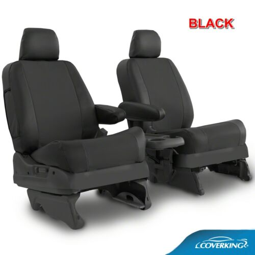 Coverking Moda Synthetic Leather Front /& Rear Seat Covers for Dodge Ram