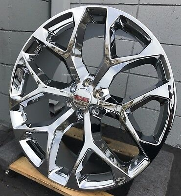 22'' GMC SIERRA SNOWFLAKE CHROME WHEELS MT TIRES YUKON ...