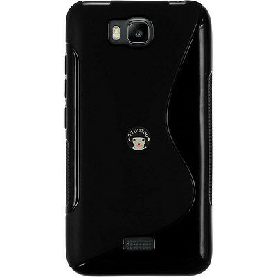 TPU Silicone Case For Huawei Honor Bee/Y5C Y541 - Black S Line Gel Cover Skin